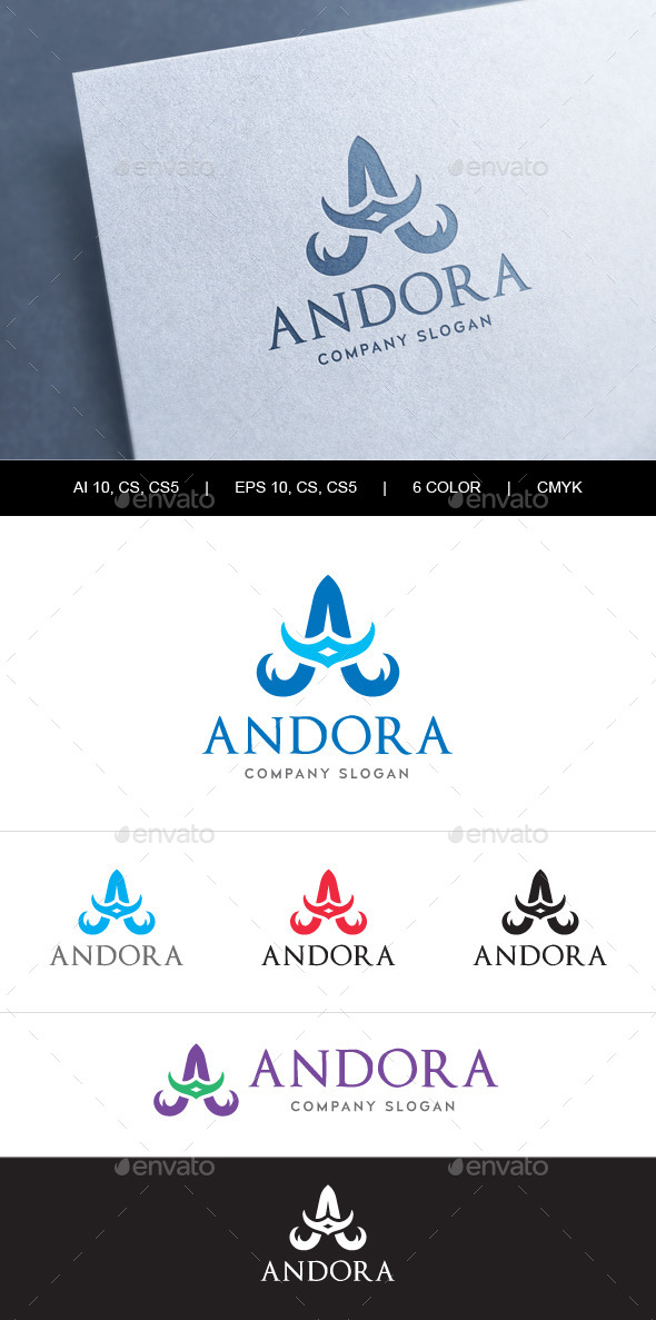Heraldic Letter A Logo - Letters Logo Templates