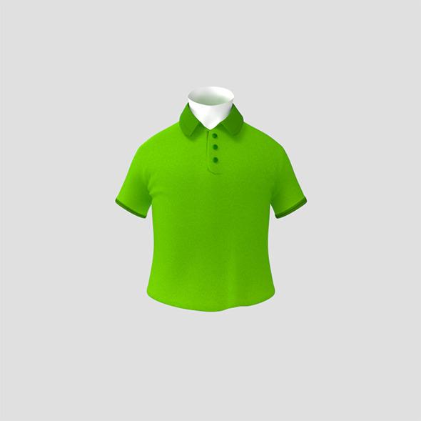 Shirt & Collar - 3DOcean Item for Sale