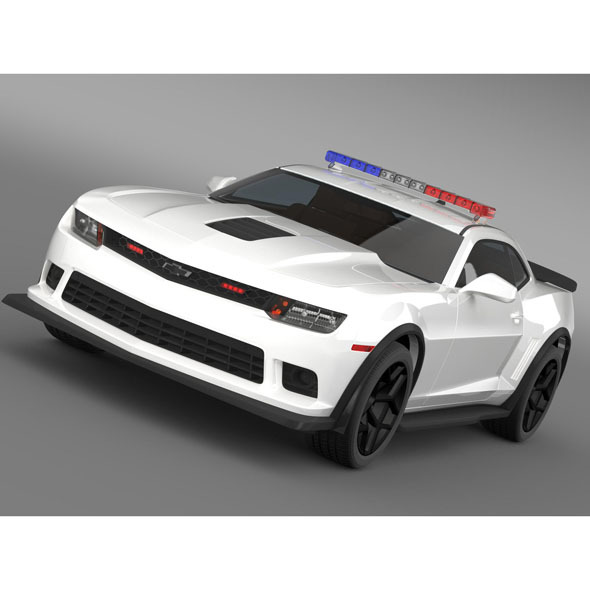 Chevrolet Camaro Z28 Police 2015 - 3DOcean Item for Sale