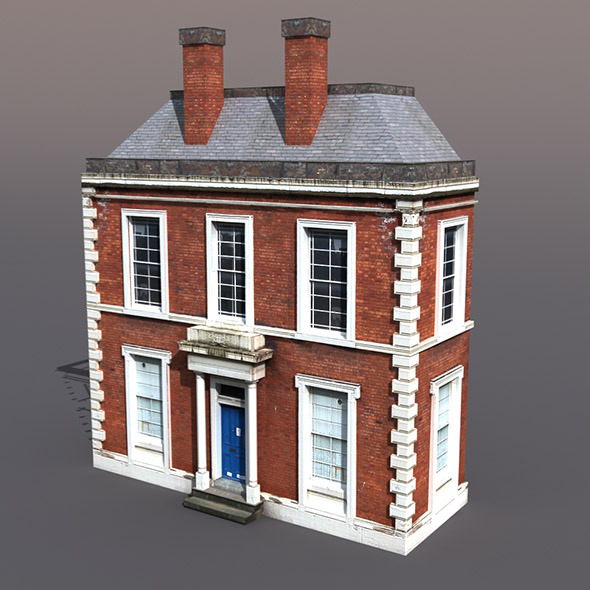 Apartment house #42 Low Poly 3d Model - 3DOcean Item for Sale