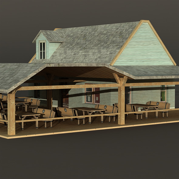 Bar House Wooden - 3DOcean Item for Sale