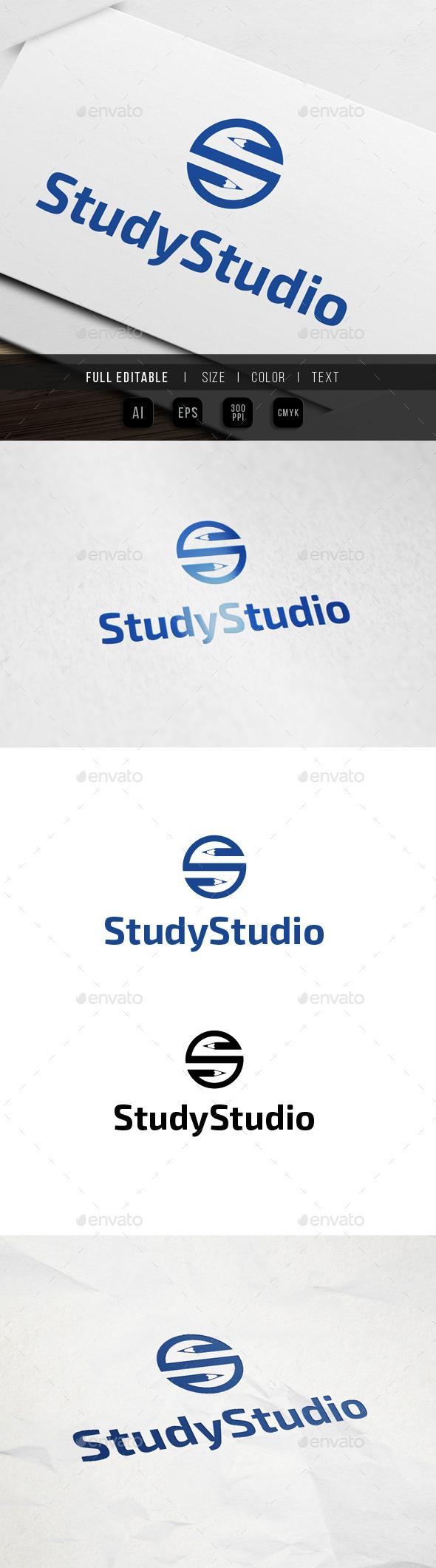 Pencil Studio Logo - Letters Logo Templates