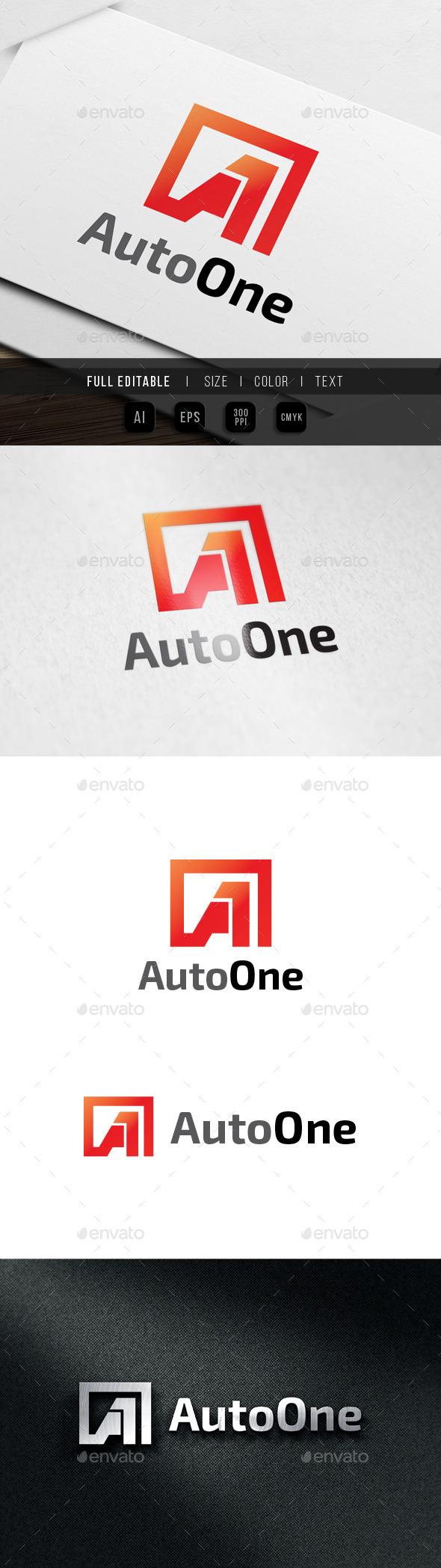Auto One - Letter A - Letters Logo Templates