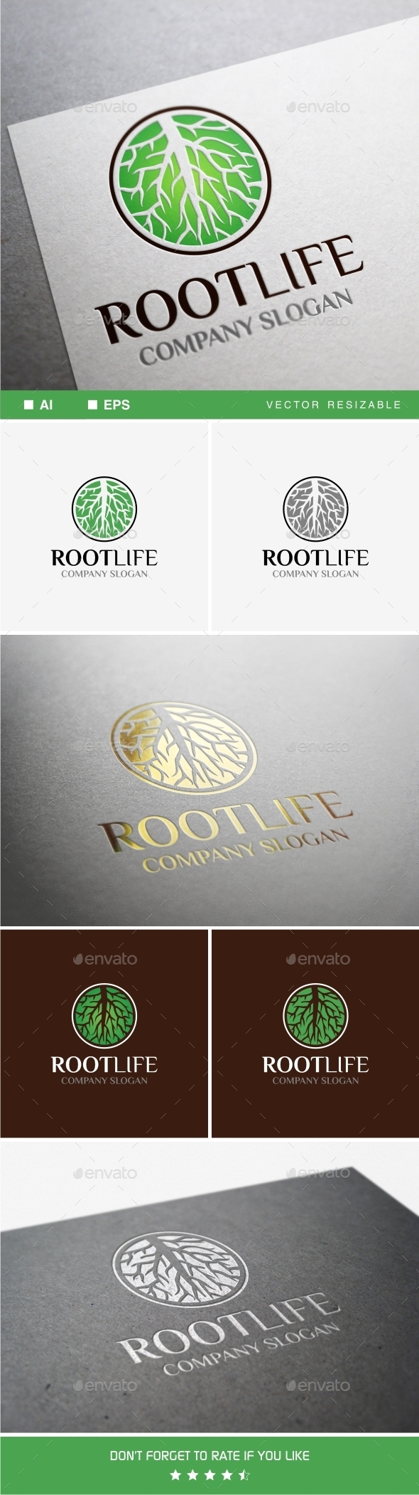 Root Life Logo - Nature Logo Templates