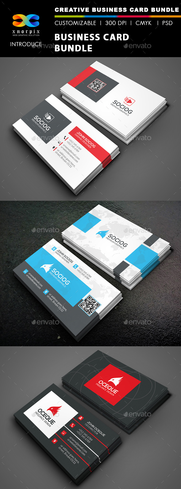 Business Card Bundle 3 in 1-Vol 45 - Corporate Business Cards