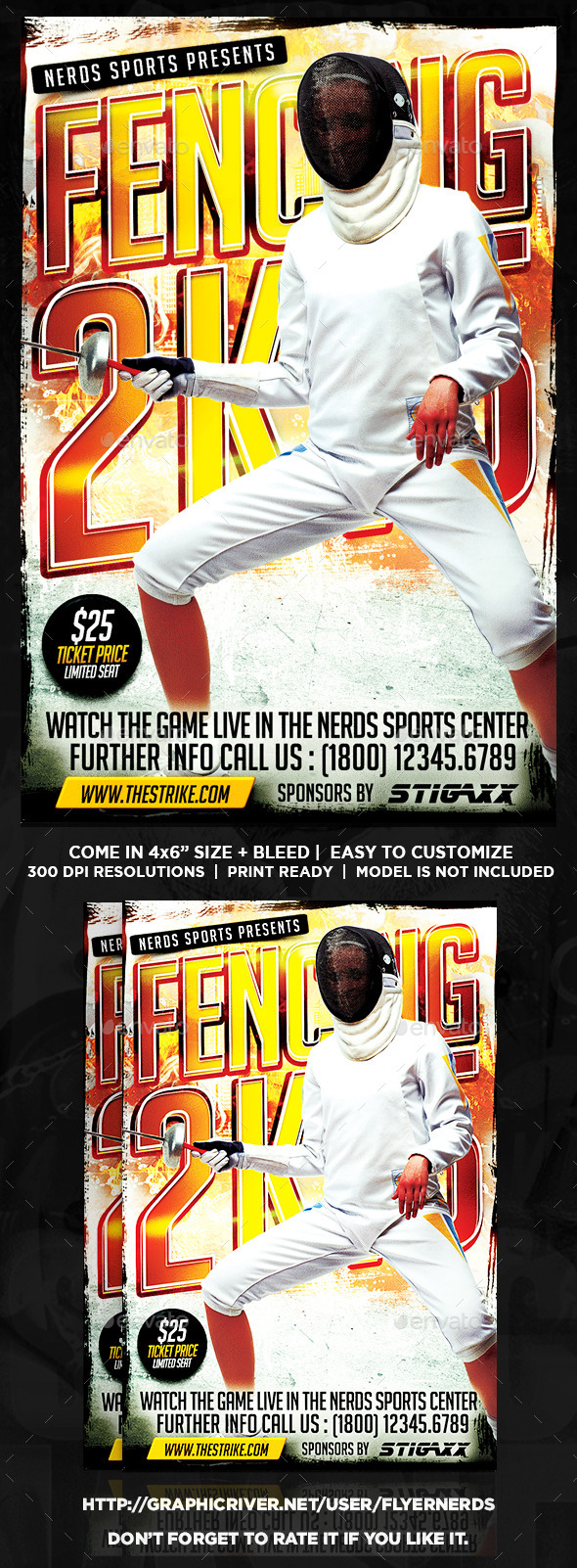 Fencing Championships 2K15 Sports Flyer - Sports Events