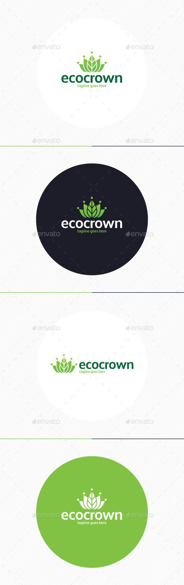 Eco Crown Logo - Nature Logo Templates