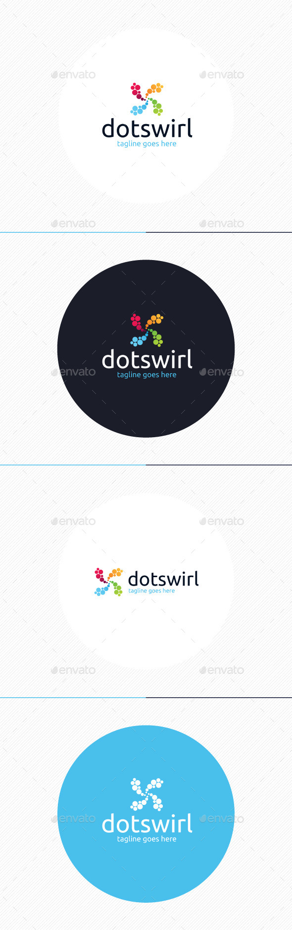 Dot Swirl Logo - Vector Abstract