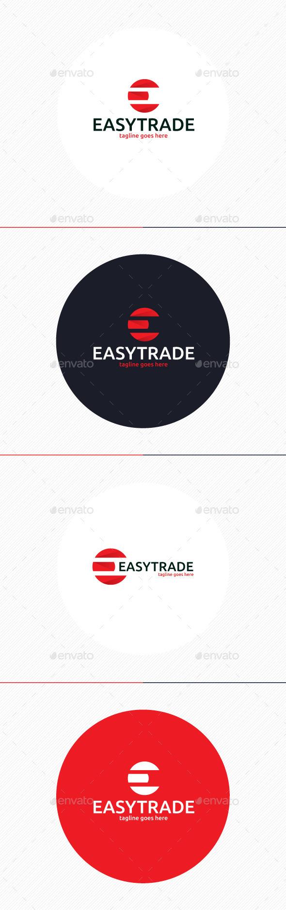 Easy Trade Logo • Letter E - Letters Logo Templates