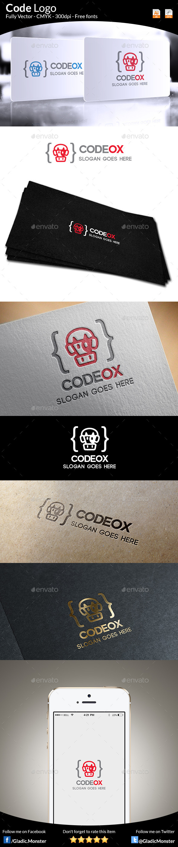 Code Logo - Animals Logo Templates