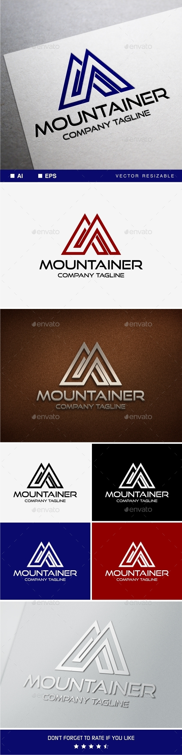 Mountainer • M Letter Logo Template - Letters Logo Templates