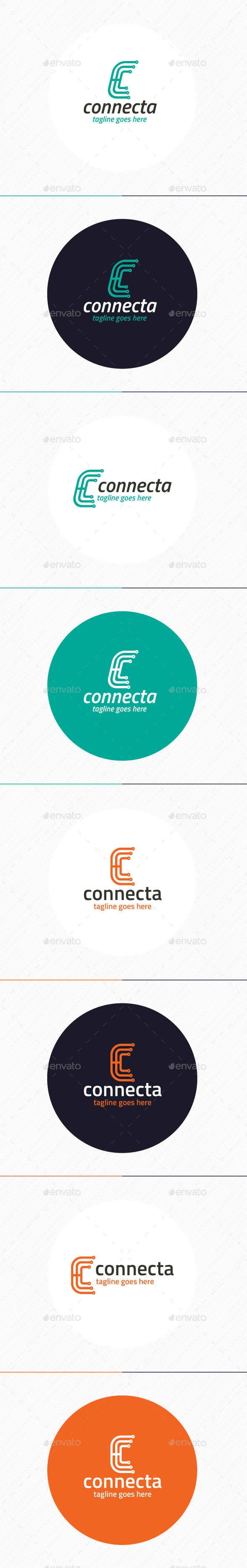 Connecta Logo • Letter C - Letters Logo Templates