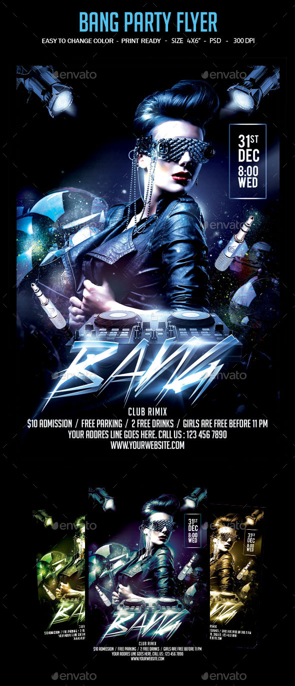 Bang Party Flyer - Clubs & Parties Events