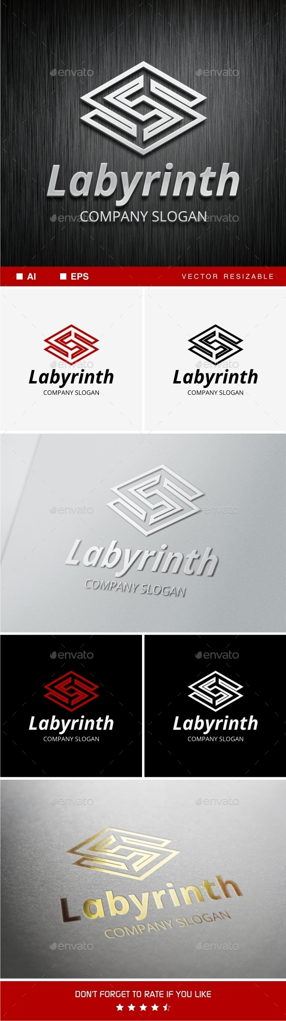 Labyrinth • S Letter Logo Template - Abstract Logo Templates