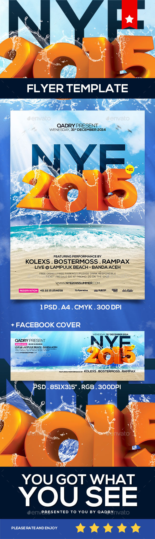 NYE Flyer Template v.03 - Clubs & Parties Events