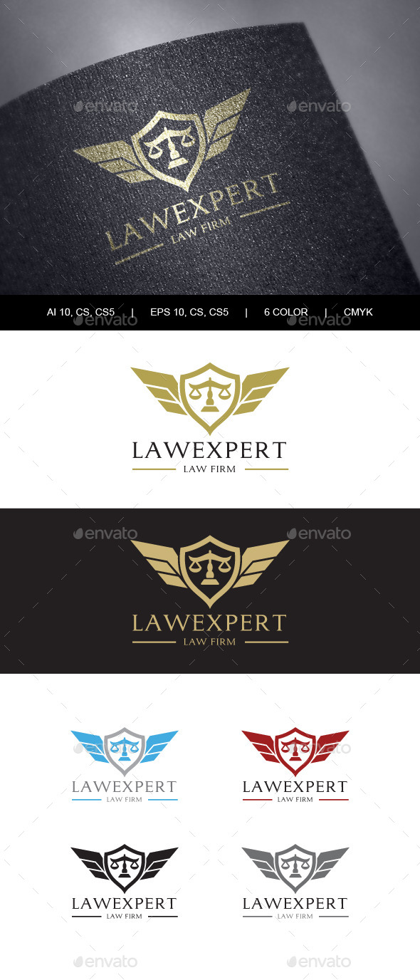 Law Firm Logo  - Crests Logo Templates