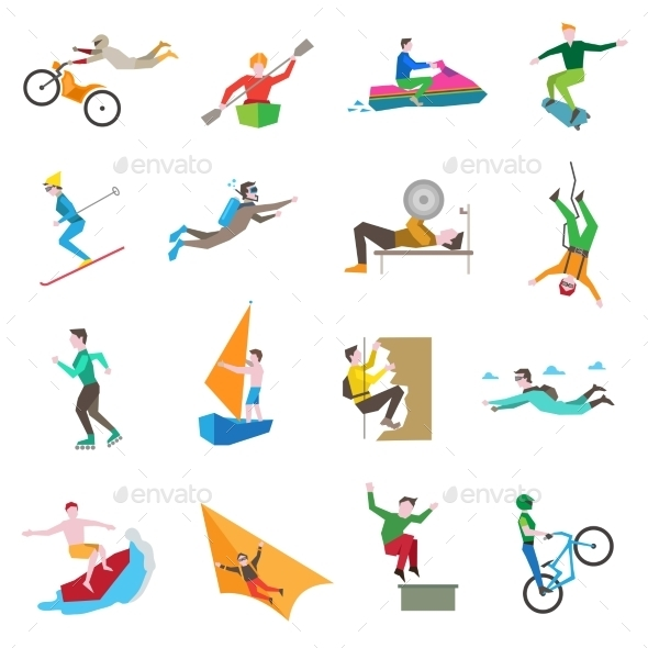 Extreme Sports Icons - Sports/Activity Conceptual