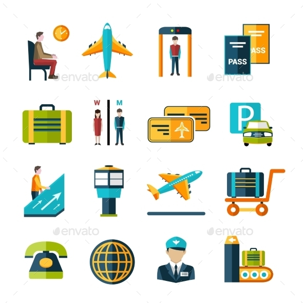 Airport Icon Set - Miscellaneous Icons