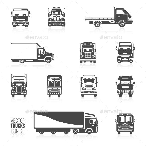 Truck Icons Set - Miscellaneous Vectors