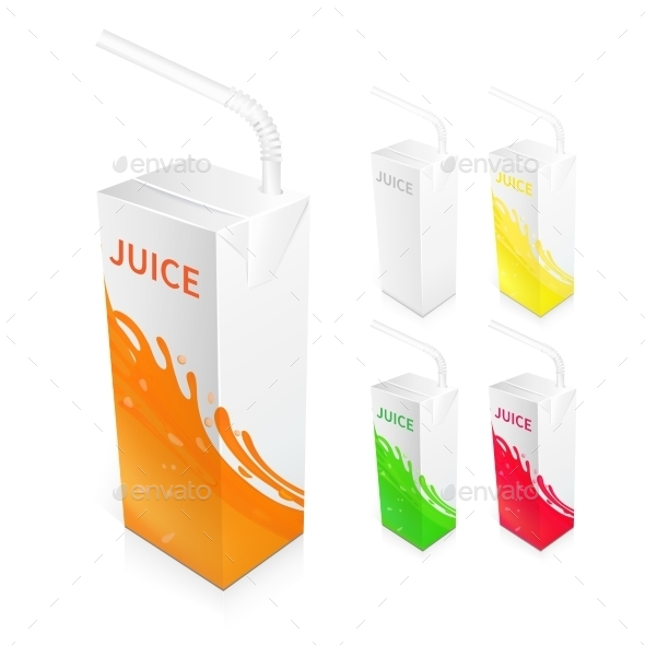 Juice Box Package - Objects Vectors