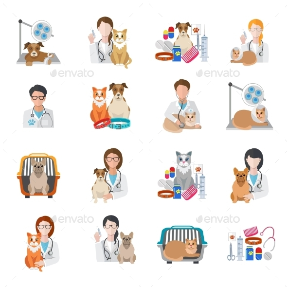 Veterinary Icon Flat - Health/Medicine Conceptual