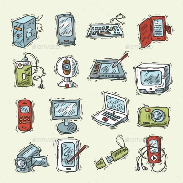 Digital Device Set - Objects Vectors