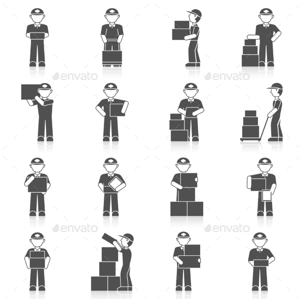 Delivery Man Icon - People Characters