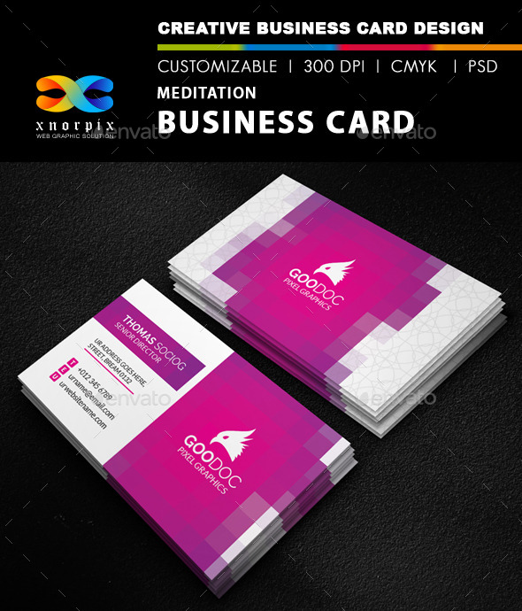 Meditation Business Card - Corporate Business Cards