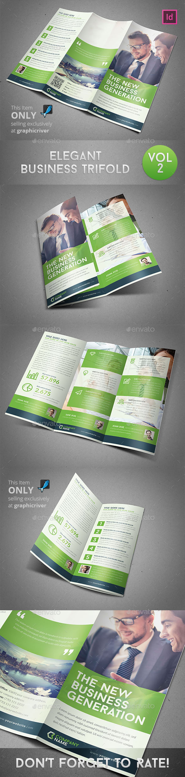 Elegant Business Trifold - Informational Brochures