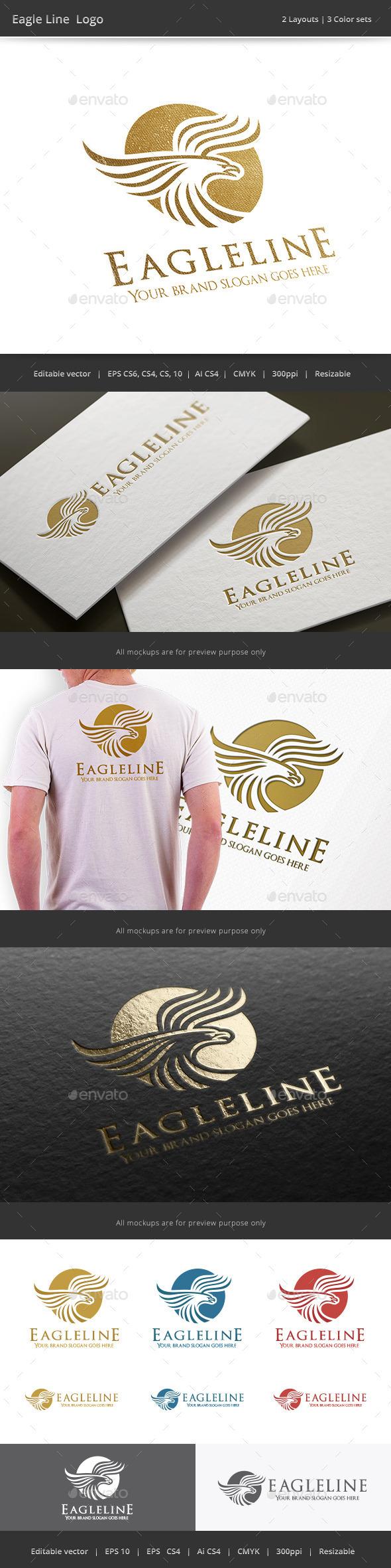 Eagle Line Logo - Crests Logo Templates