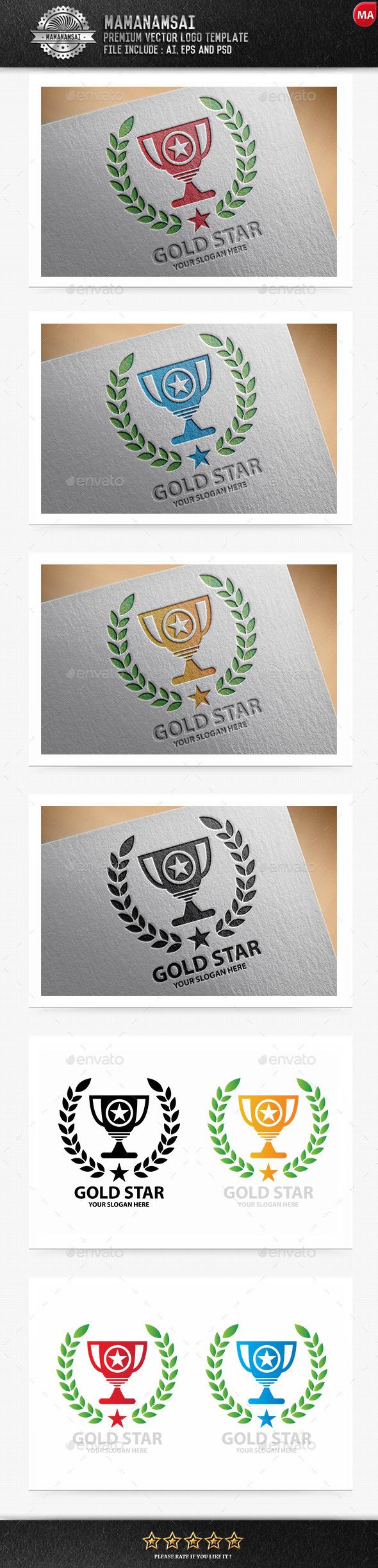 Gold Star Logo - Logo Templates