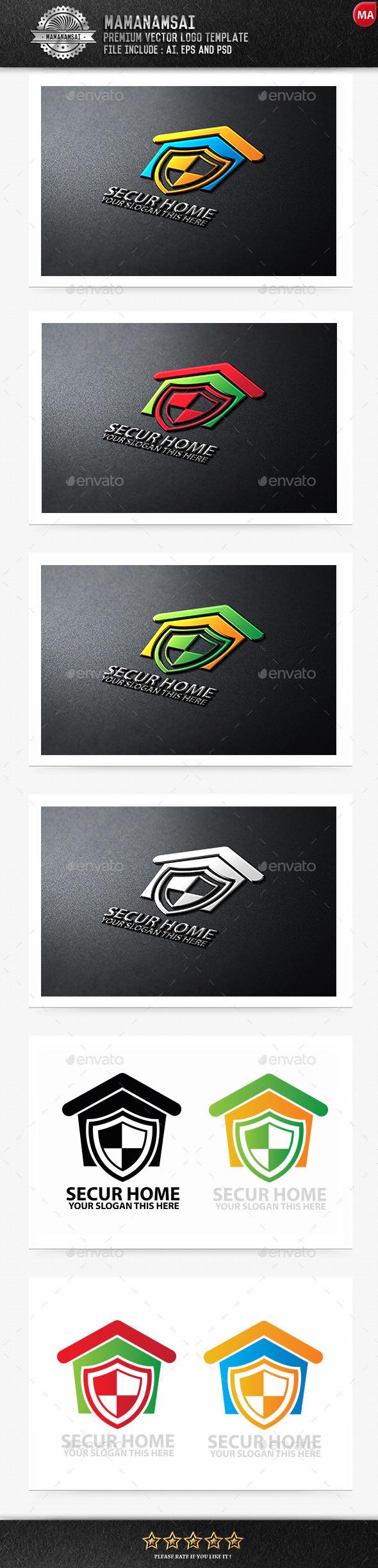 Secure Home Logo - Logo Templates