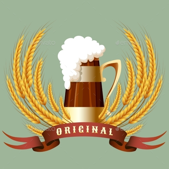 Beer Mug Banner - Food Objects