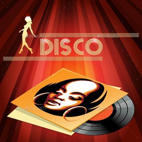 Disco Club Poster Design - Miscellaneous Seasons/Holidays