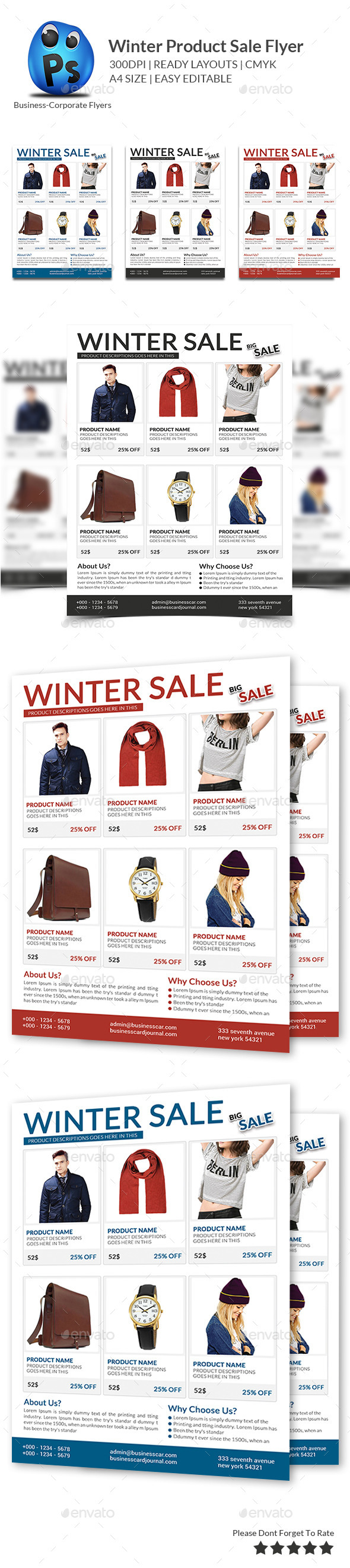 Winter Product Sale Flyer - Flyers Print Templates