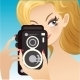 Woman holding Camera - GraphicRiver Item for Sale