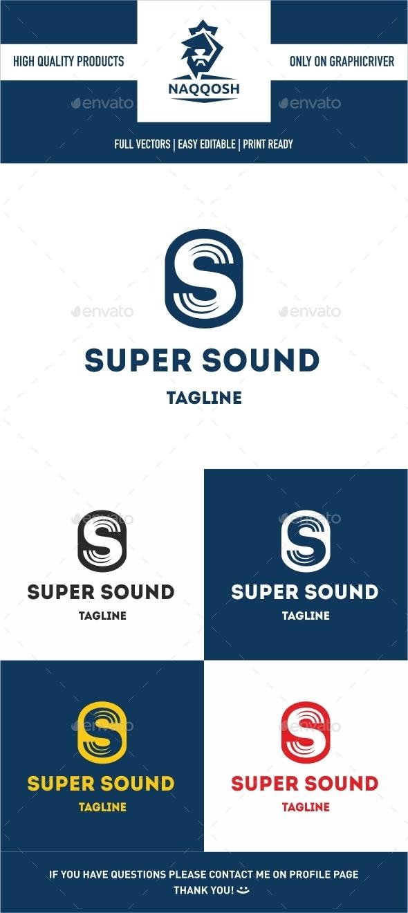 Super Sound - Letters Logo Templates