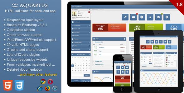 Aquarius - Responsive Admin Panel - Admin Templates Site Templates