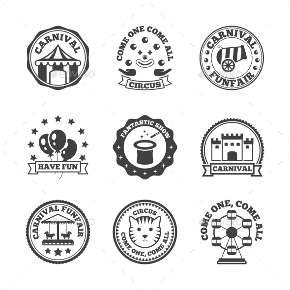 Amusement Park Label - Miscellaneous Vectors