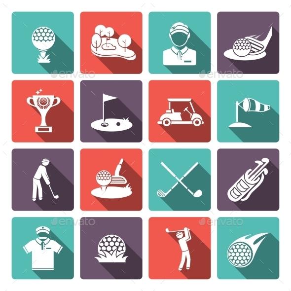 Golf Icons Set - Icons