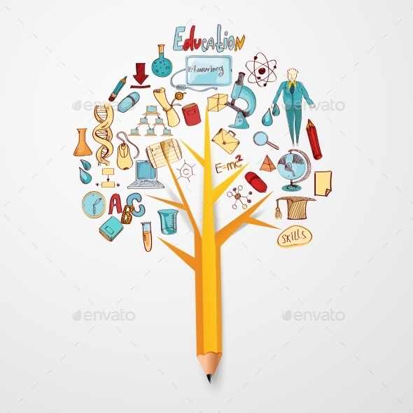 Education Doodle Concept - Decorative Vectors