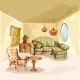 Living Room Interior Sketch - GraphicRiver Item for Sale