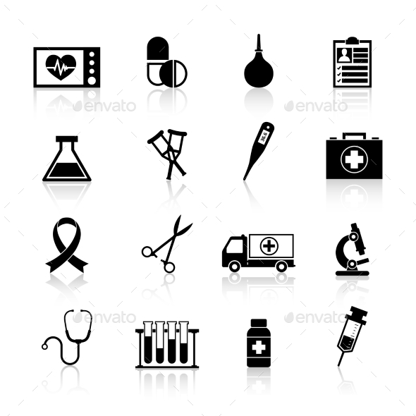 Medical Equipment Icon Black - Miscellaneous Icons