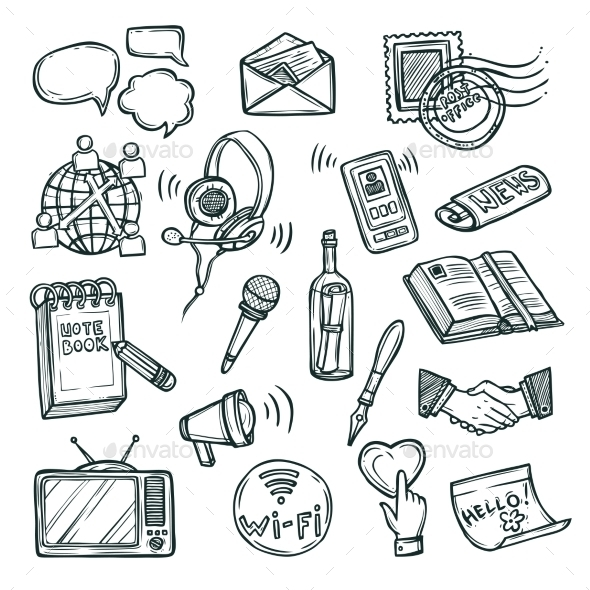Communication Icon Set - Communications Technology