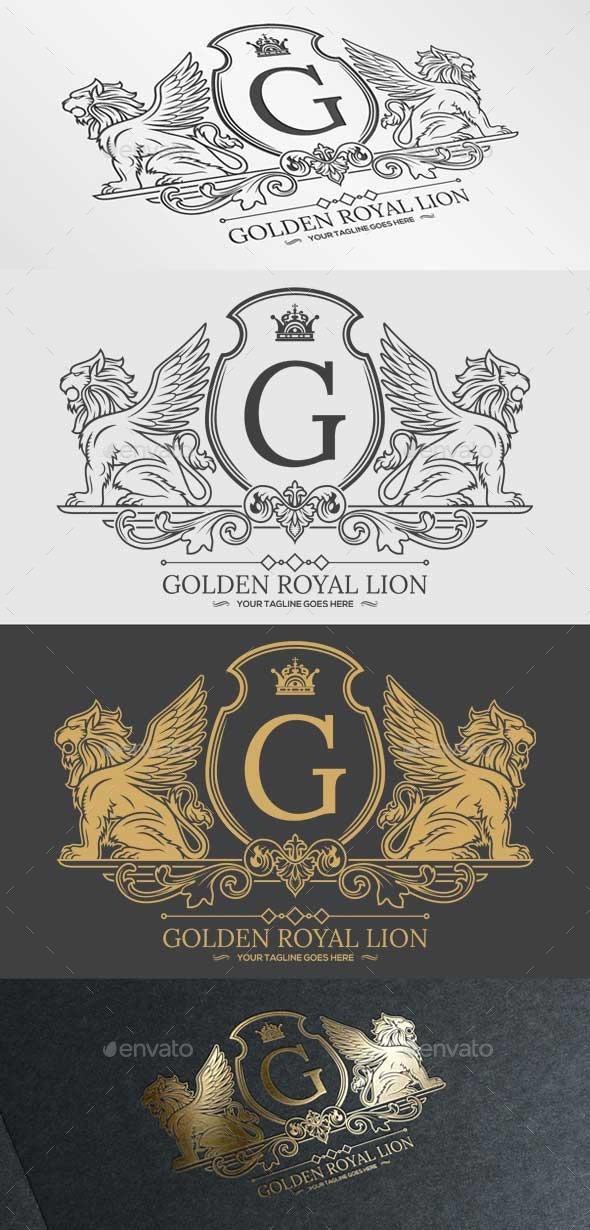 Golden Royal Lion Vol.1 - Crests Logo Templates