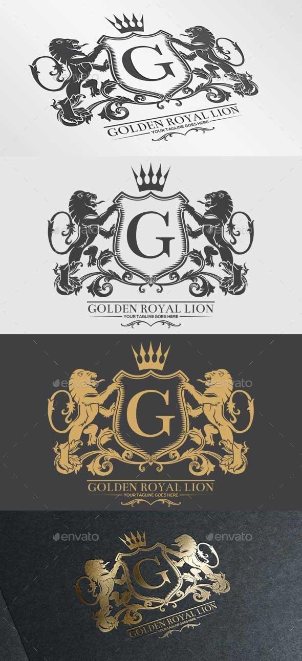 Golden Royal Lion Vol.2 - Crests Logo Templates