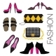Set of Shoes and Bags.  - GraphicRiver Item for Sale