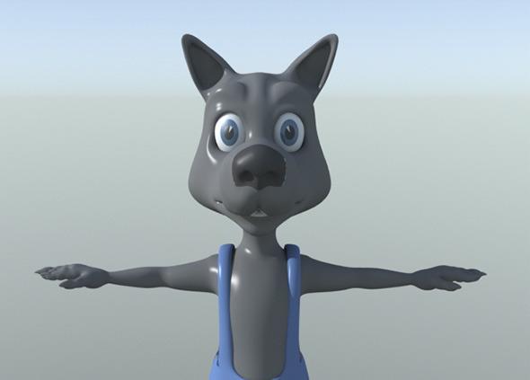 Wolf Cartoon - 3DOcean Item for Sale