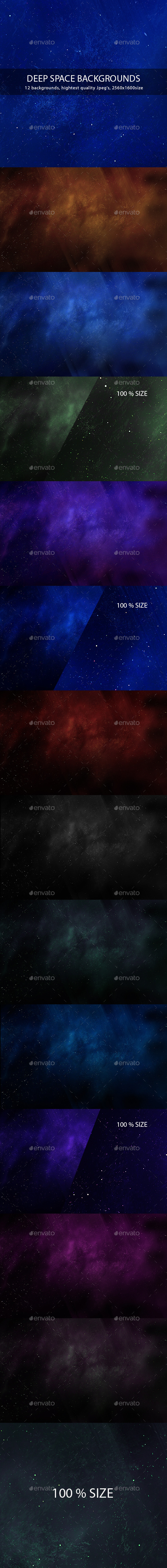 Deep Space Backgrounds - Abstract Backgrounds