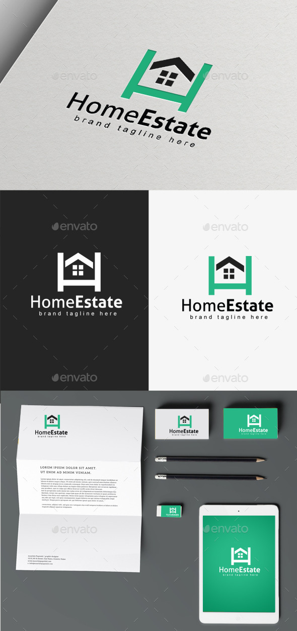 Home Estate logo - Buildings Logo Templates
